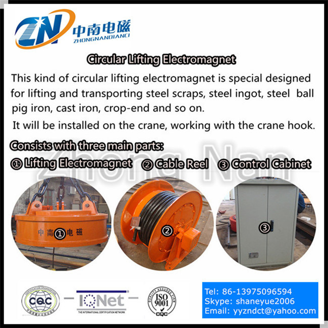 Complete Set of High Frequency Lifting Magnet for Steel Scraps MW5