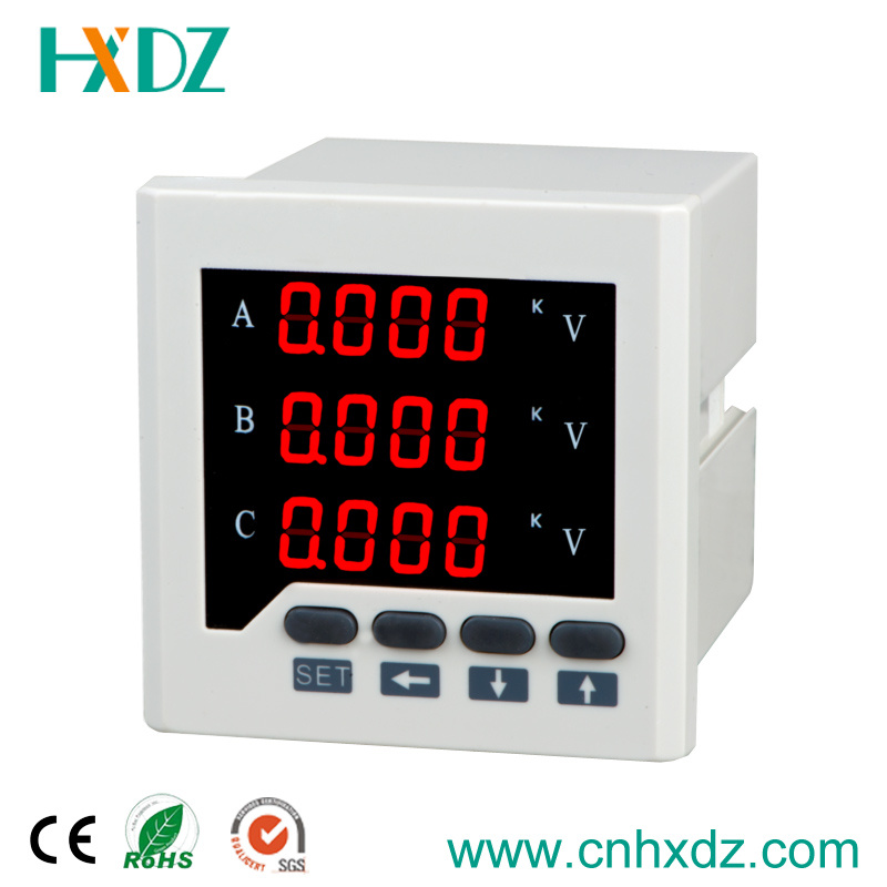 LED Display Three Phase Voltage Meter with RS485 Communication Programmable