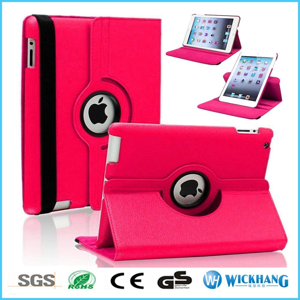 Rotating Leather Flip Case Smart Cover for iPad Samsung Galaxy Tablet