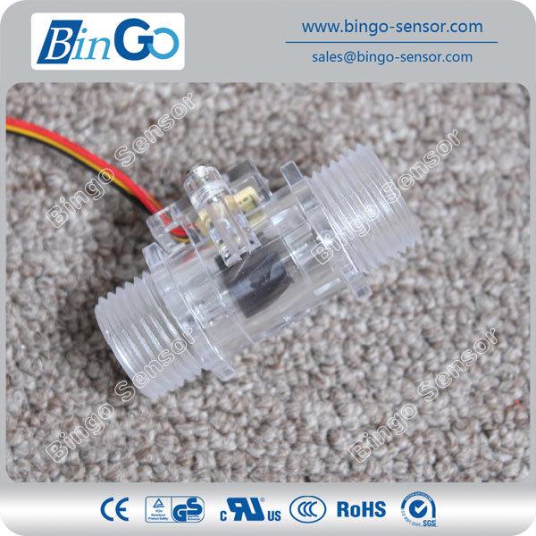 1/2′′ Crystal Water Flow Sensors, Hall Water Flow Sensor for Gas Water Heater