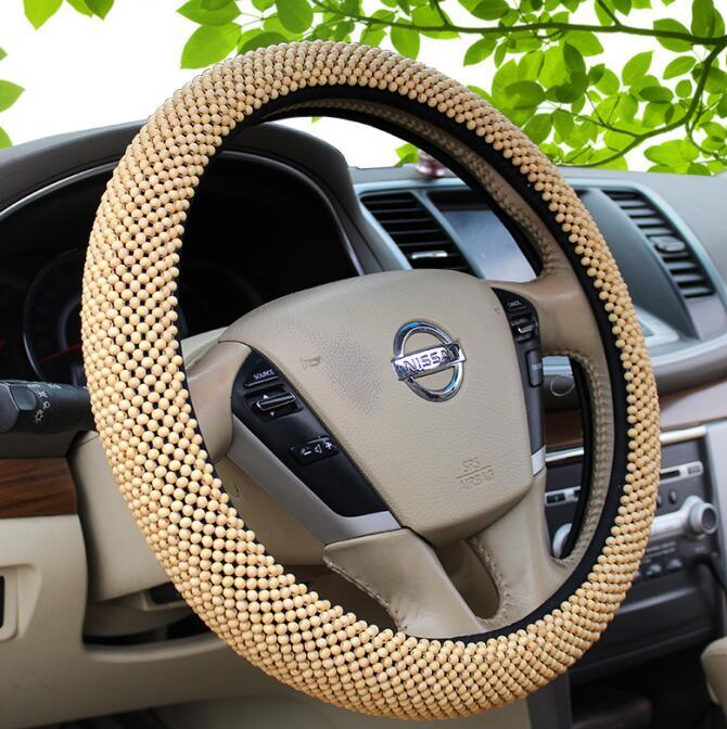 Wood Bead Auto Car Steering Wheel Cover