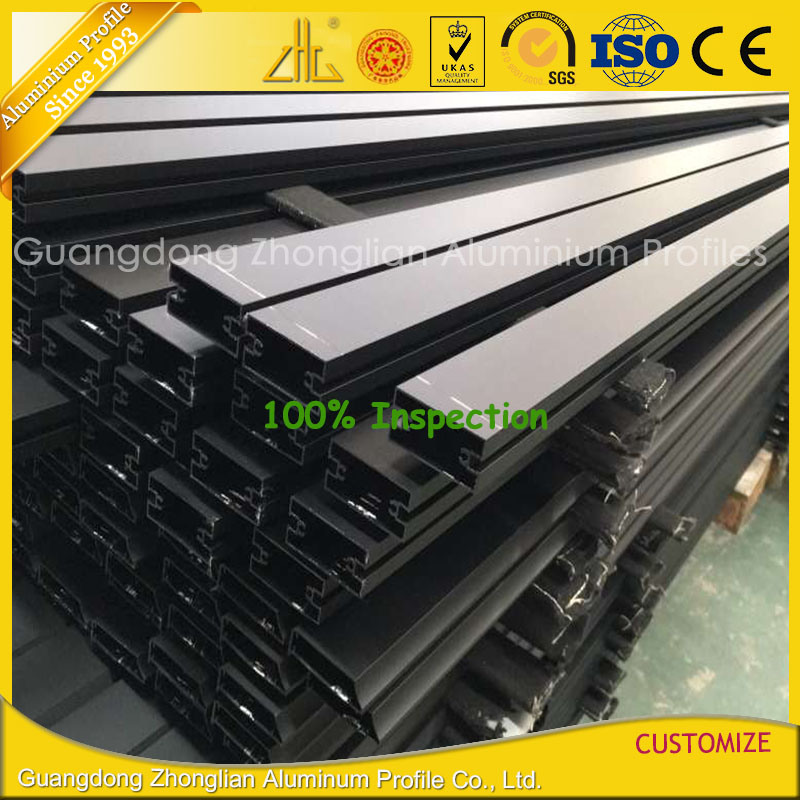 Manufactured Extruded Anodising Balck Aluminium Extrusion Curtain Wall Profile