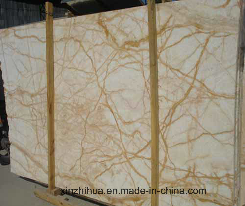 Golden Spider Marble for Tiles, Countertop, Wall with Luxuries Color, Cream Beige Marbletile