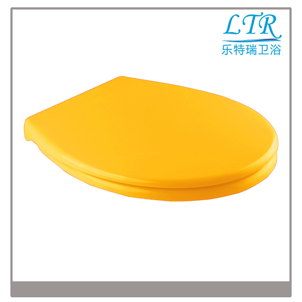 D Shape Solid Color Toilet Seat Cover with Soft Close Toilet Seat Damper