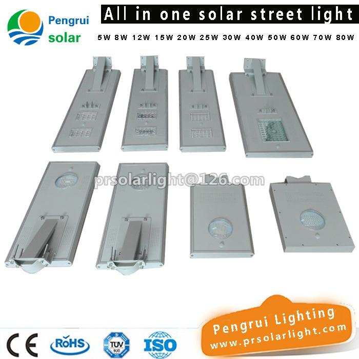 50W LED Lamp with Li Battery Solar Street Light