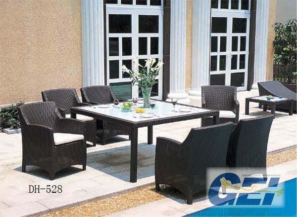 San Michelle Cast Aluminum Rectangular Dining Table 72 inch CA