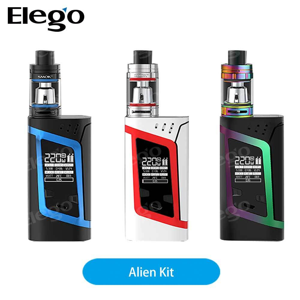 Hottest Ecig in 2017 Newest Vapor 220W High Wattage Smok 3ml Alien Kit Large Stock Tfv8 Baby Wholesale