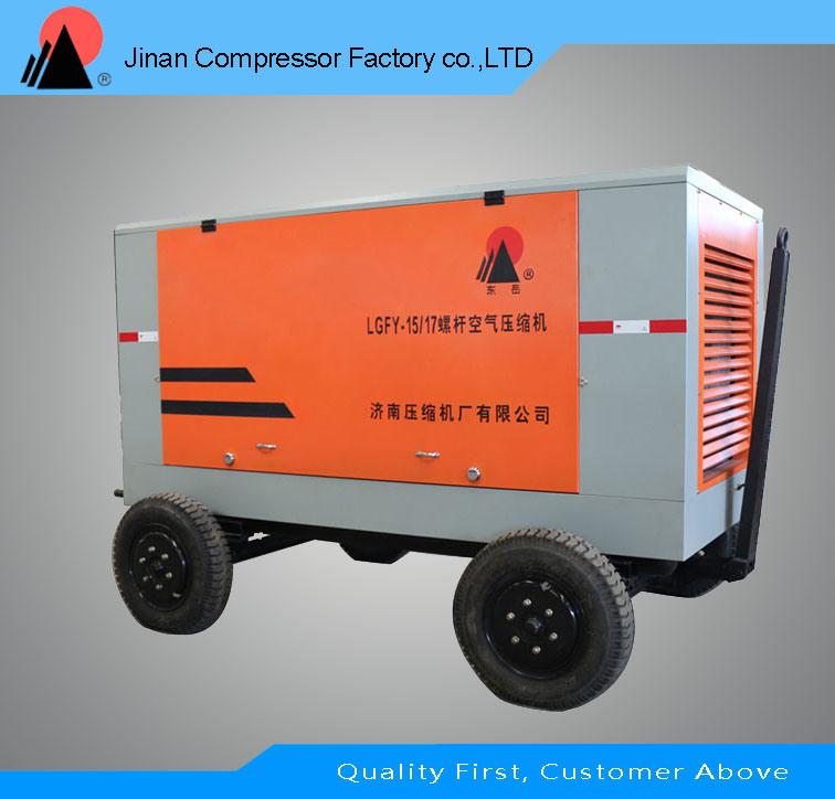 Direct Driven Portable Air Cooled Screw Air Compressor