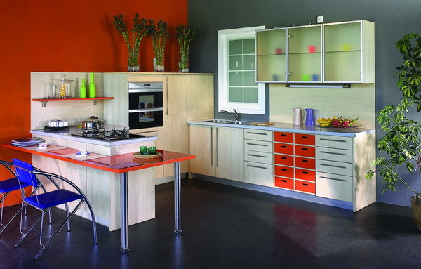Gabinetes De Baño En Pvc:Muebles laminados MDF Cabinetspc-001 de la cocina de la cocina de