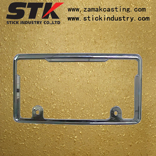License Plate Frame (Zinc Alloy, Aluminum Alloy, ISO, SGS)