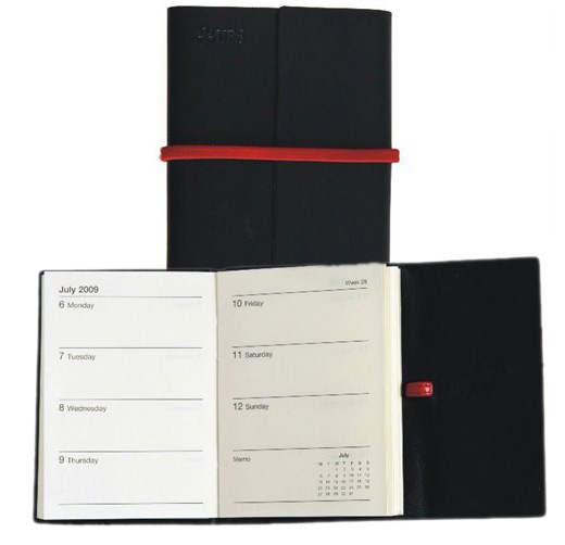 Black Elegant Supreme Quality Custom Business Notebook with Elestic (YY-N0006)