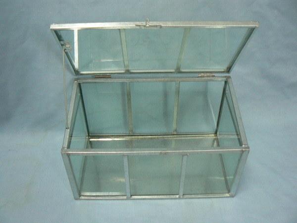Glass/PVC Panel Metal Mini Greenhouse