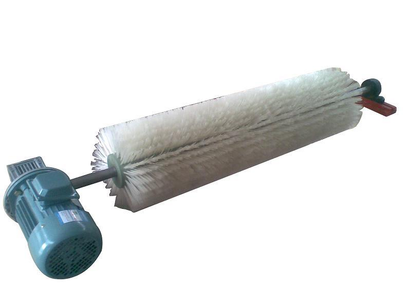China Rotary Brush Roller Conveyor Belt Cleaner Motorized
