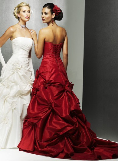 Weddings burgundy on pinterest burgundy wedding for Red dresses for a wedding
