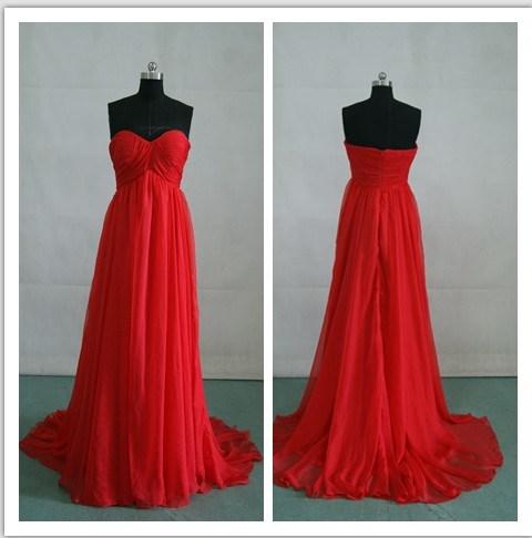 rojo de encargo/vestidos cortos Chiffon (E-02) – 2013 vestidos de