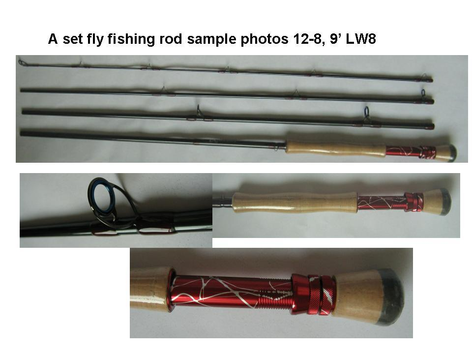 a set fly fishing rods 12 8