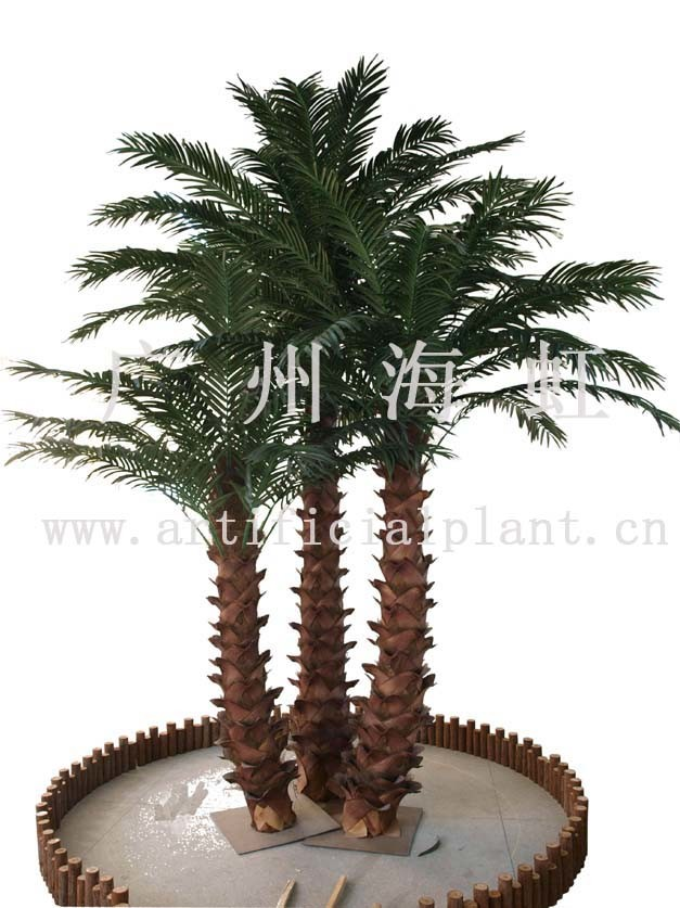 Restaurant With Palm Tree In Yellow Diamond