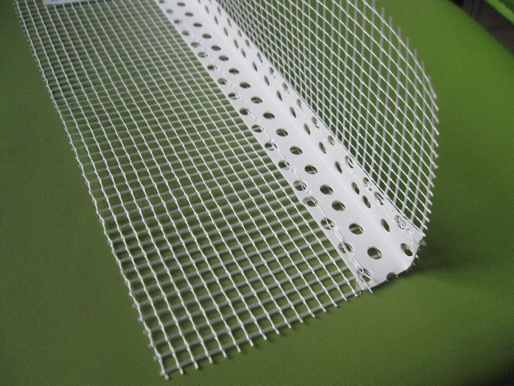 Flexible Corner Bead : China plastic corner bead angle with fiberglass mesh