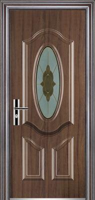 Steel Door with Glasses (YF-D010)
