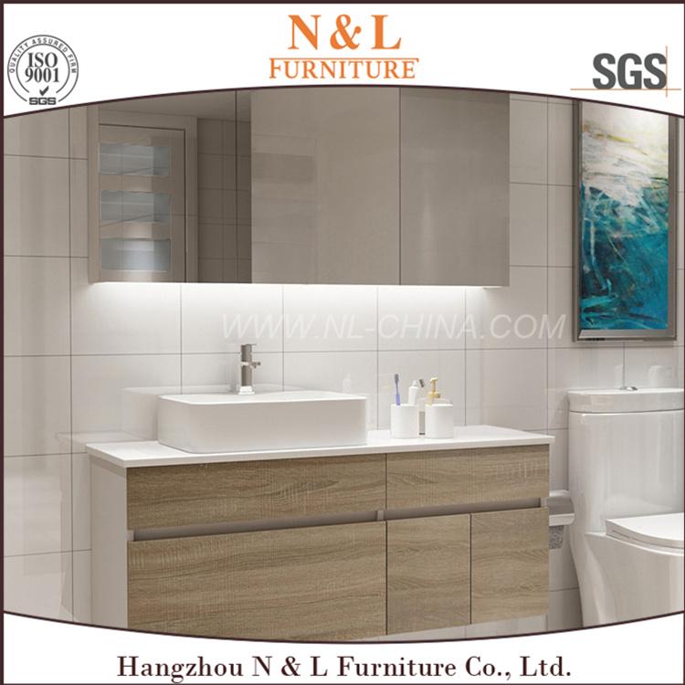 N&L 2017 Wall Mounted MDF Bathroom Vanity with Melamine