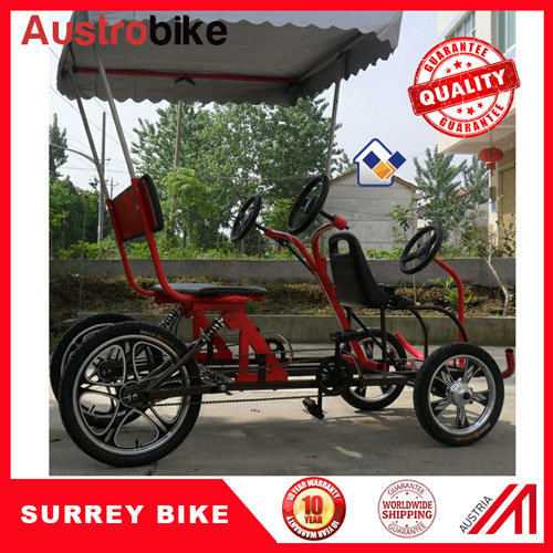 Surrey Bike Trailer 4 Person Surrey Bike with 2 Person Trailer
