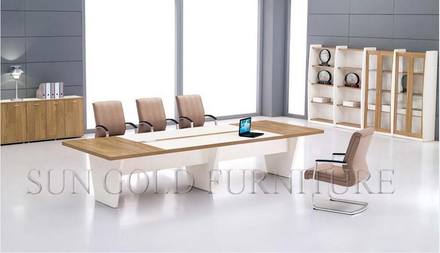 Modern Design Rectangular Conference Table Wooden Boardroom Office Furniture
