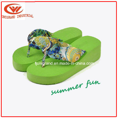 Fashion Flower Women Flip Flops Platform Wedges Sandals Slippers