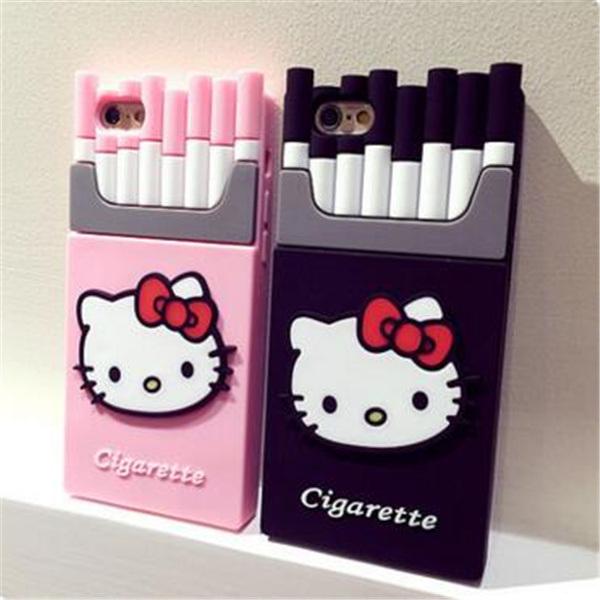 Customized Hello Kitty Cigarette Shape Silicone Cover Case