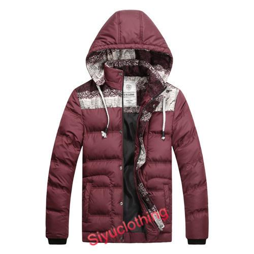Men Casual Hoody Fanshion Padding Winter Warm Down Jackets (J-1605)