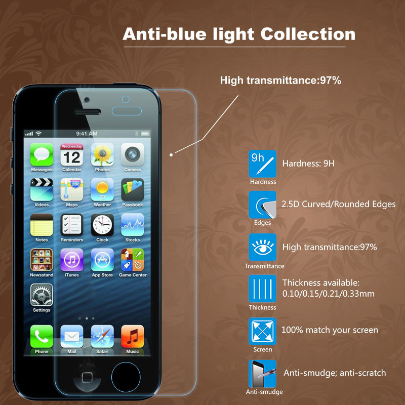 Anti-Blue Tempered Glass Screen Protector for iPhone 6/ 6s