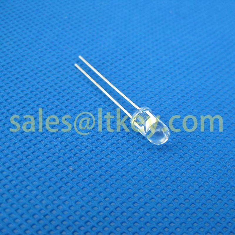 5mm Round Blue LED Lamp with Water Clear Case