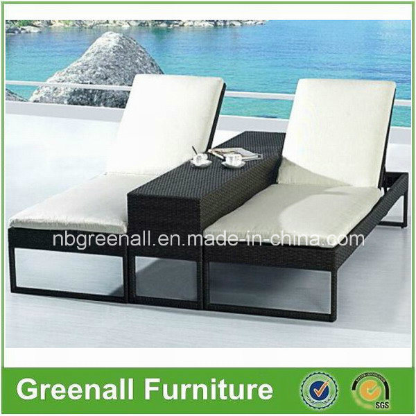 Outdoor Double Rattan Sun Lounge