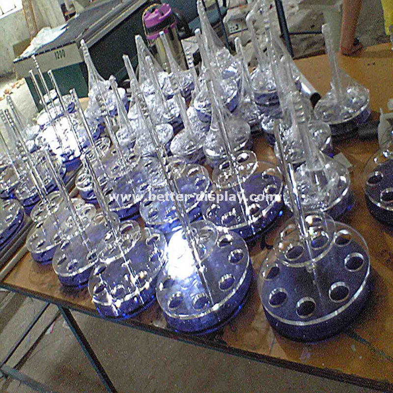 Wholesale Acrylic Wine Glass Holder Tray