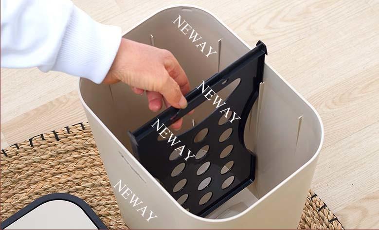 Two Lids New Design Fashion Plastic Waste Bin