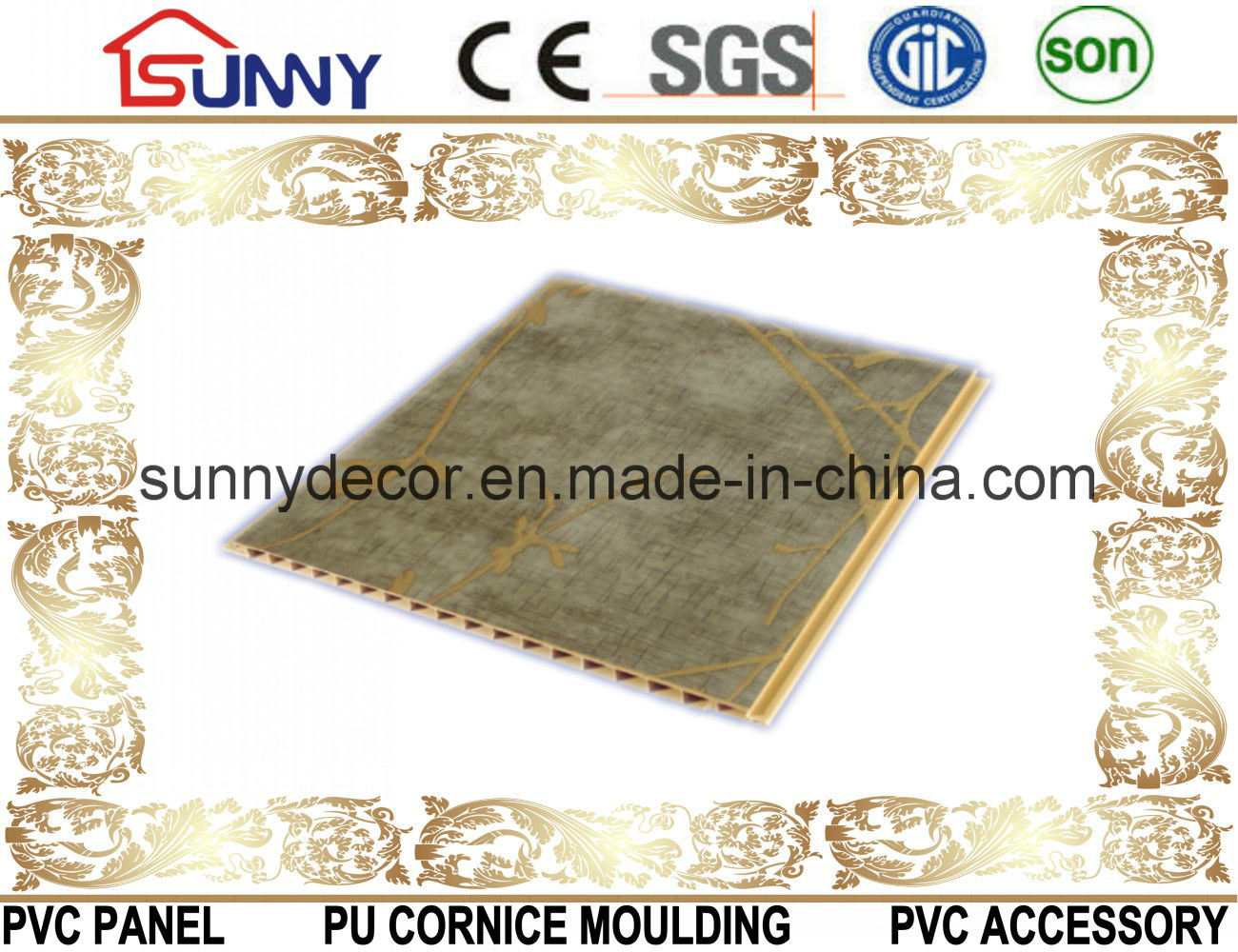 New Pattern Pvcwall-PVC Ceiling Panel Laminated PVC Panel