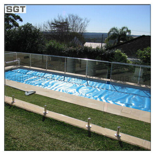 Clear Toughened Frameless Glass Pool Fencing Balustrading Glass