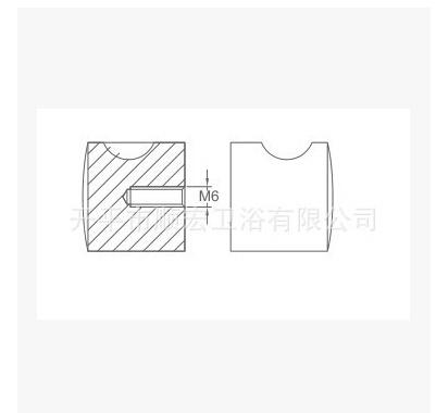 Xc-203 Series Bathroom Small Size Door Pull Handle