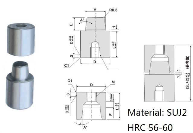 Precision Non Standard Guide Post Block Set of Mold Parts