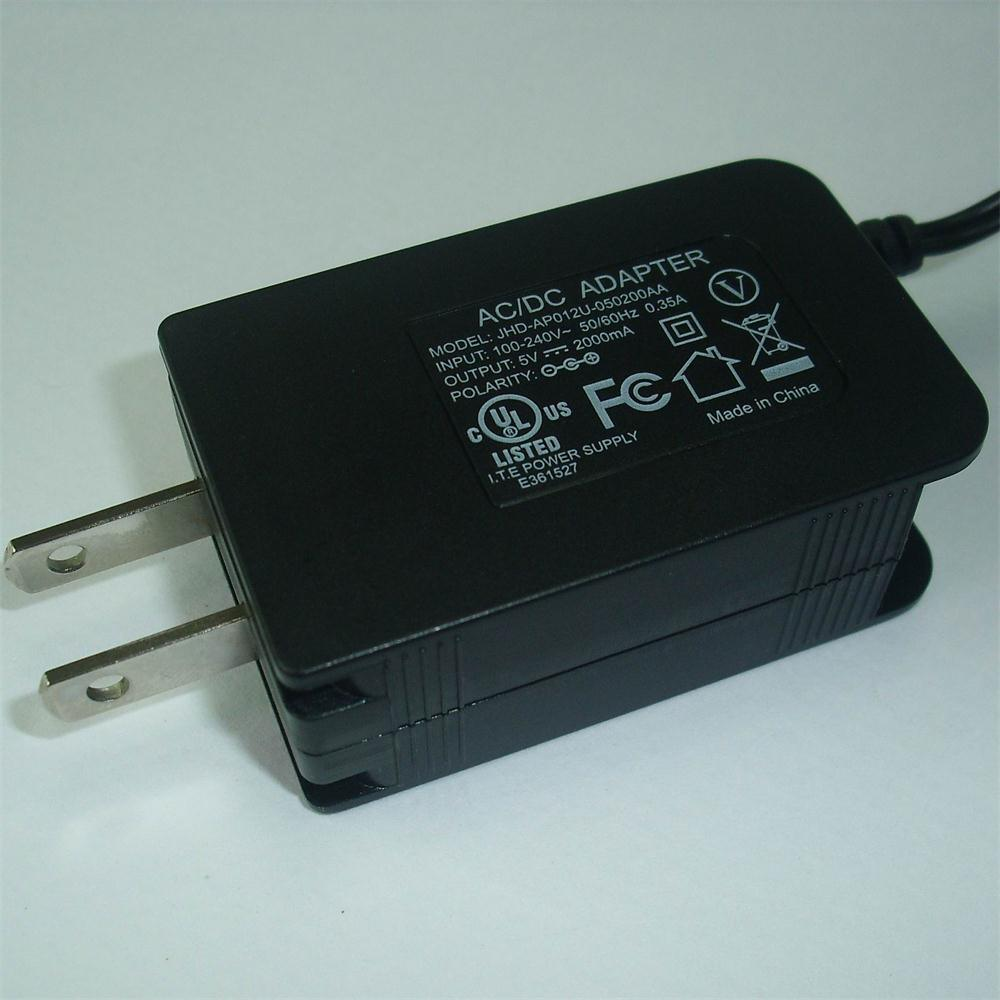 5V2a USA Plug Switching Power Adapter