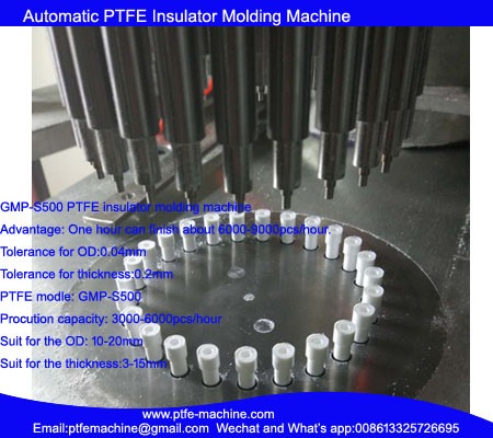 Automatic PTFE Insulator Molding Machine for Multiple Caves