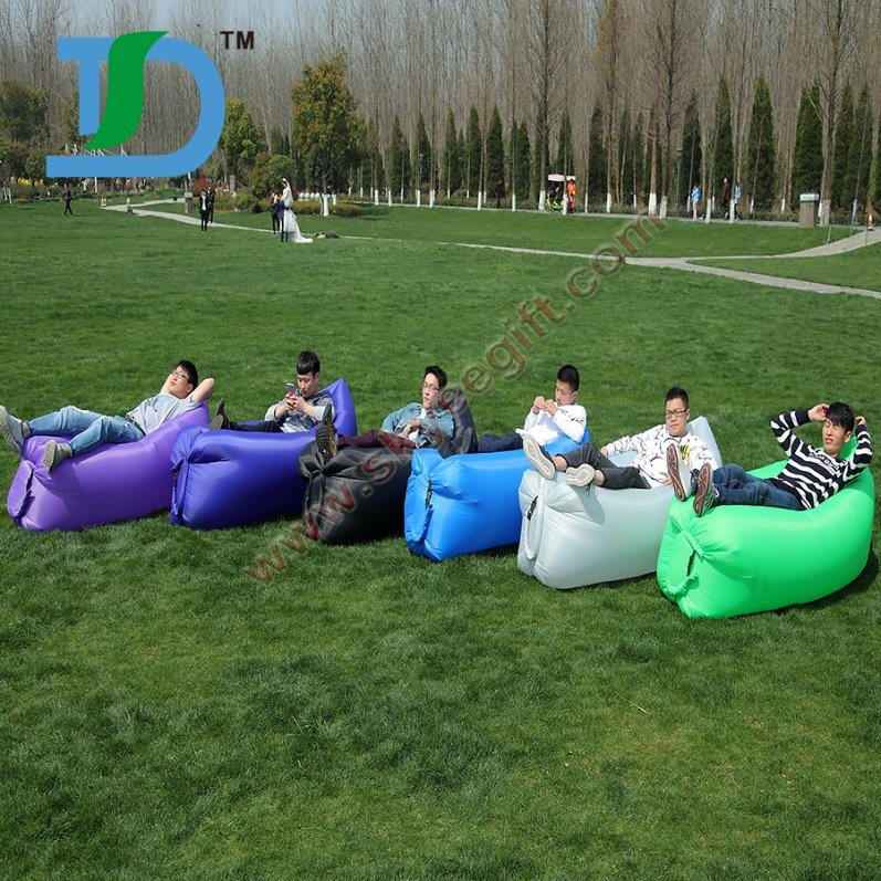 Fast Inflatable Full Color Laybag Sleeping Bag for Traveling Camping