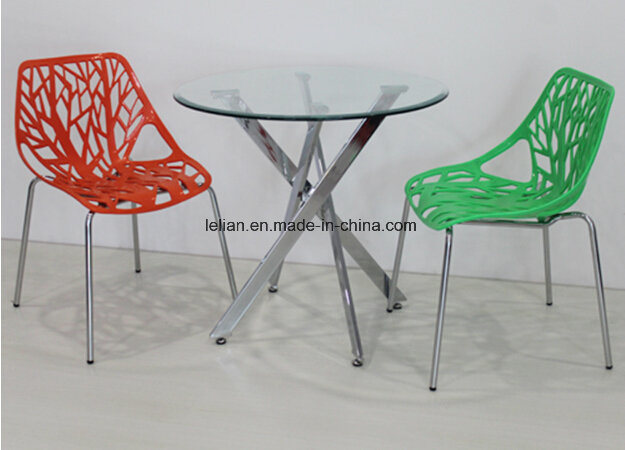 Wink Plastic Armless Stacking Guest Chair with Chrome Legs (LL-0036)