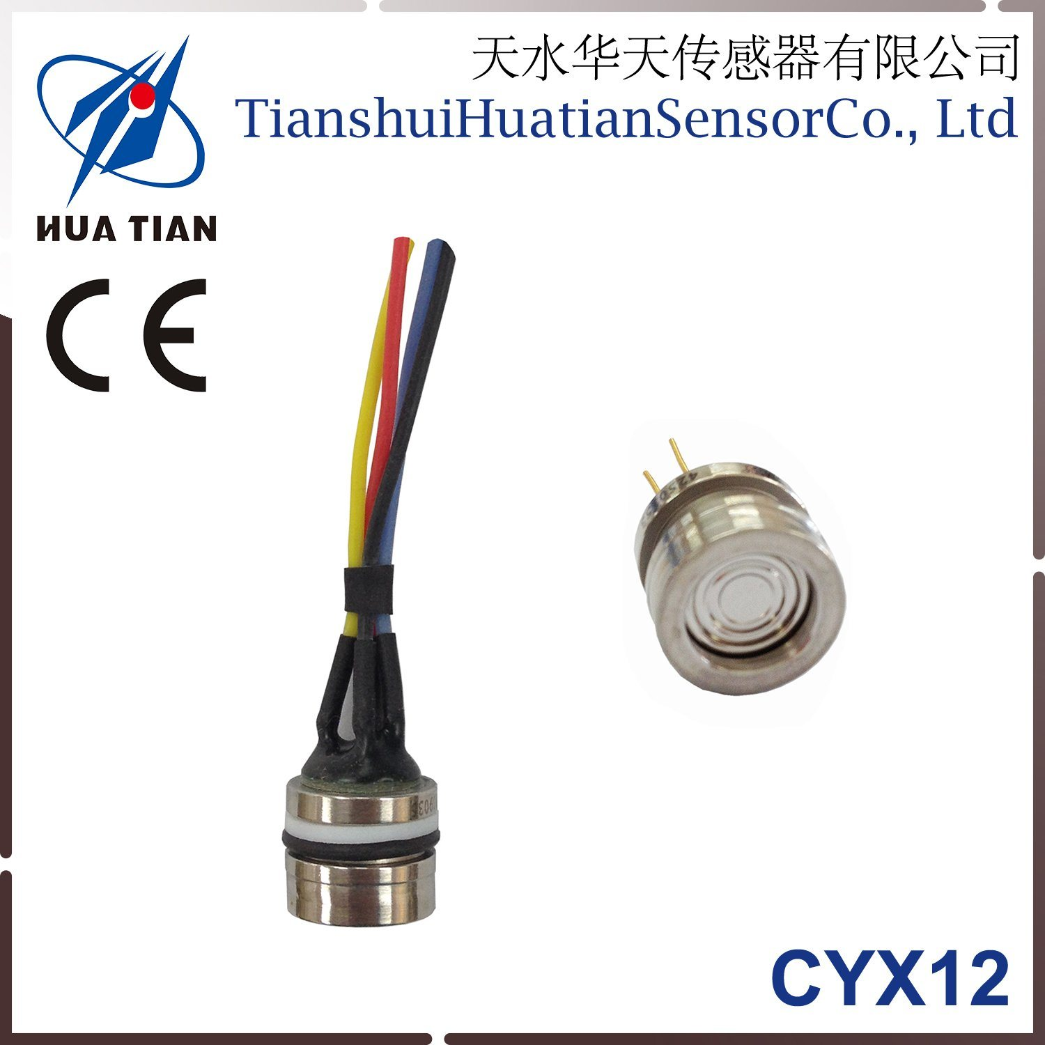 Cyx-12 12.6mm Silicon Oil Filled Piezoresistive Pressure Sensor