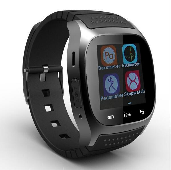 Smartwatch M26 Bluetooth Smart Watch with LED Alitmeter Music Player Pedometer for Android Smart Phone Good as U8 Dz09 A1 Gt08