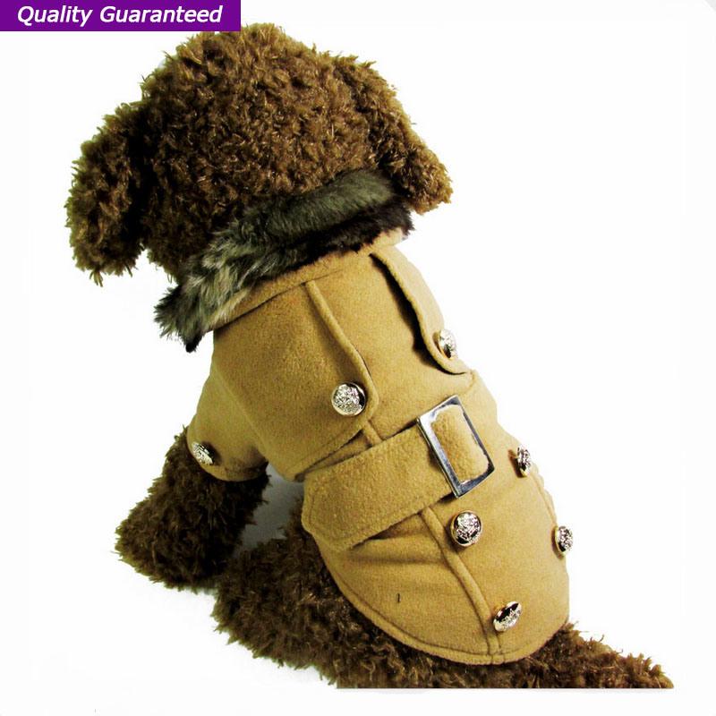 Pet Coat Dog Clothes with Fuzz Neck