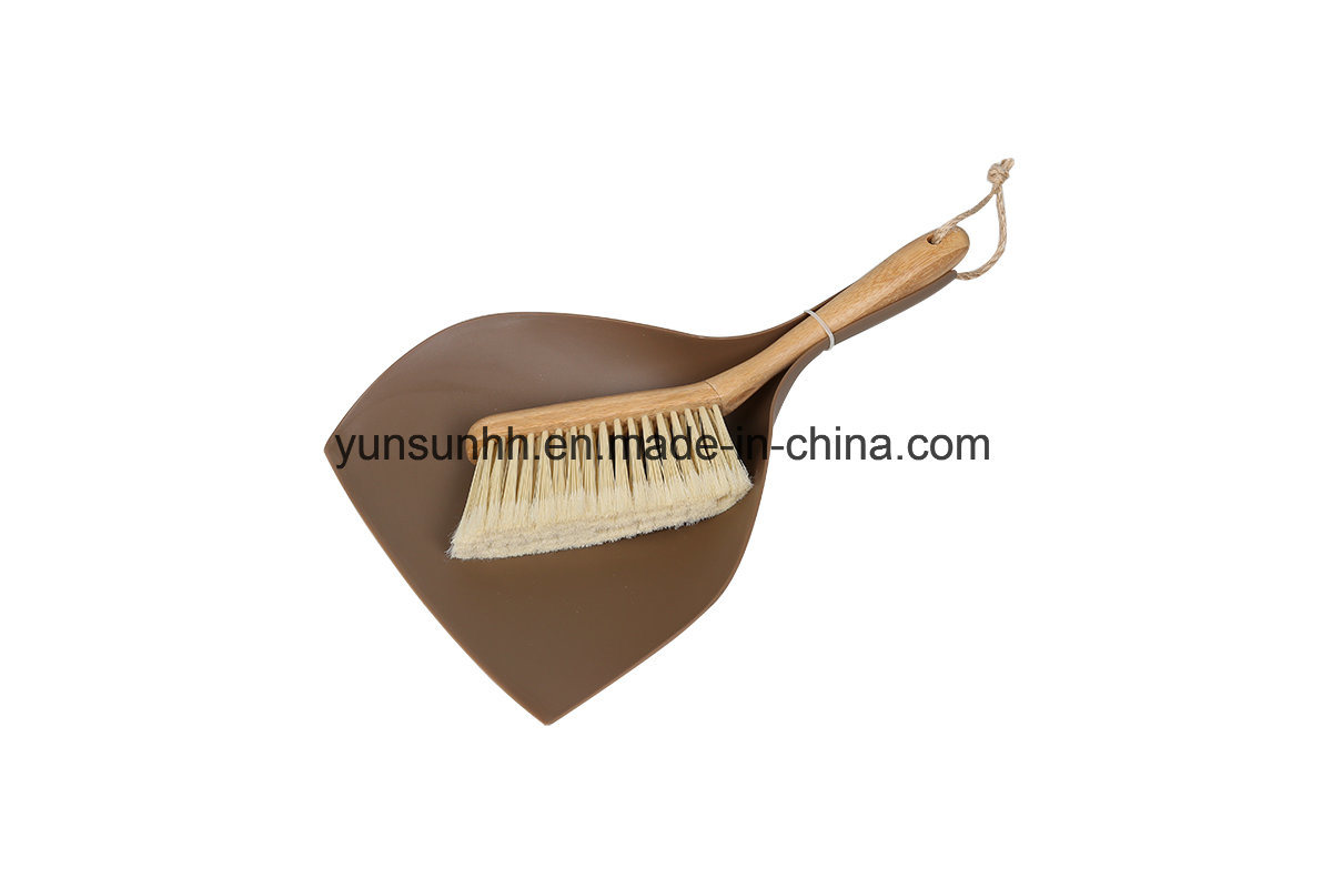 Table Dustpan &Sweeping Bamboo Brush Set