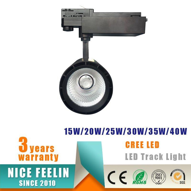 20W CREE COB LED Track Spotlight for Commercial Lighting