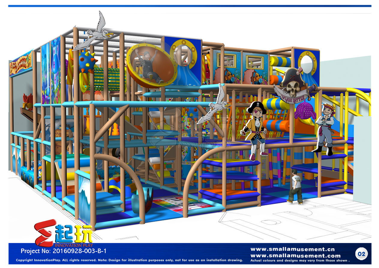 Priate Themed Indoor Playground Equipment with Classic Items