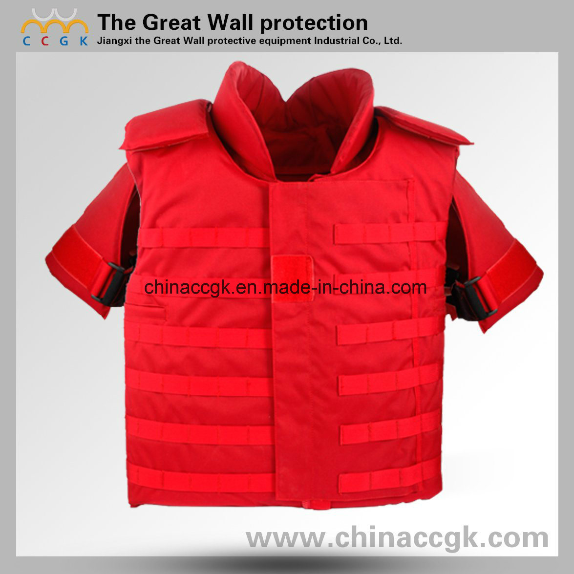 Nij III / IV Kevlar Red Full-Protection Tactical Bulletproof Vest