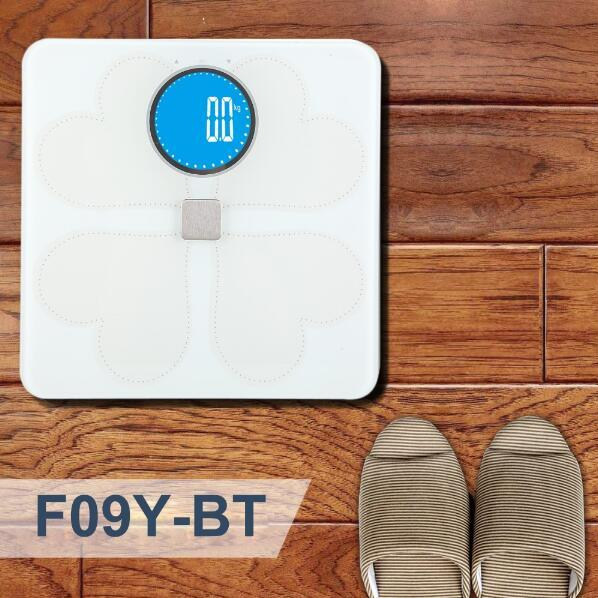 Large Glass Platform LCD Display Digital Body Fat Bluetooth Scale